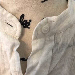 Anthropologie Tops - Anthropologie ivory button down tie blouse,Sz XS